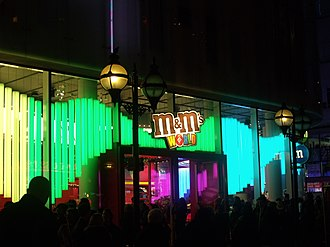 M&M's World - Image: Leicester Square, London M & Ms World (6438068159)
