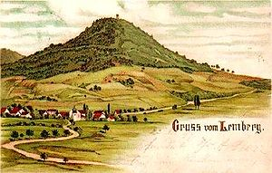 "Lemberg (Swabian Jura) - 1899 picture (""Greetings from the Lemberg"")"