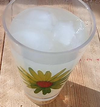 Lemonade - Glass of cloudy lemonade, typical in the US