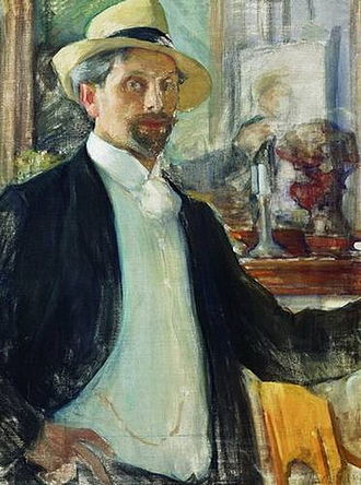 Leonid Pasternak - Self-portrait (1908)