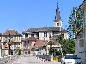 Les Échelles - The church in Les Échelles