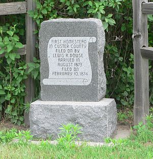Dowse Sod House - Monument at Lewis Dowse homestead site.