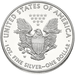 Rum stříbrné mince American Silver Eagle