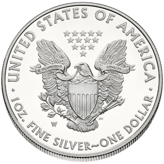 American Silver Eagle - Image: Liberty $1 Reverse