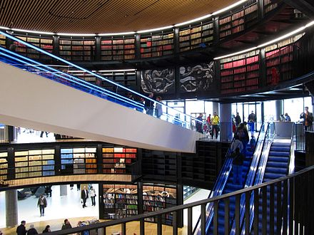 The Library of Birmingham is the new home for the largest municipal library in Europe LibraryOfBirmingham-Levels.jpg