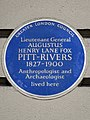 Lieutenant General Augustus Henry Lane Fox Pitt-Rivers 1827-1900 anthropologist and archaeologist lived here.jpg