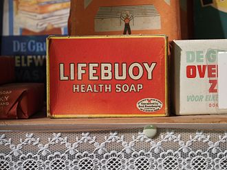 Lifebuoy (soap) - Lifebuoy Soap Packaging. Photographed at the Museum in den Halven Maen, The Netherlands