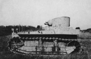 T1 Light Tank - A T1E1 tank.