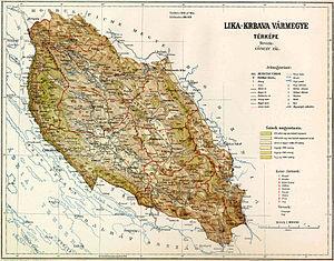 Lika-Krbava County Map