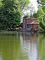 Lilypond Cottage fishing lodge and lake at Matching, Essex, England 03.jpg