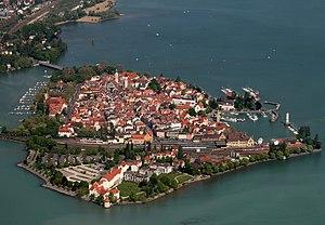 Die Insel Lindau von Westen
