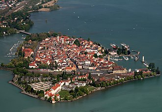 Lindau (island) - The island of Lindau from the west