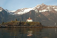 Eldred Rock Lighthouse at Lynn Canal AK