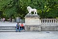 Lion statue in the Luxembourg Gardens, Paris May 2014.jpg