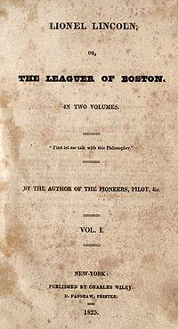 Lionel Lincoln cover