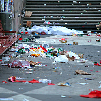 English: Littering in Stockholm