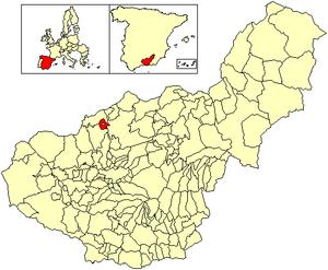 Benalúa de las Villas - Image: Location Benalúa de las Villas
