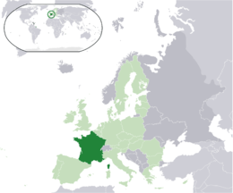 Franciaország fekvése