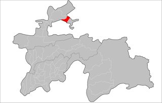 Location of Konibodom District in Tajikistan
