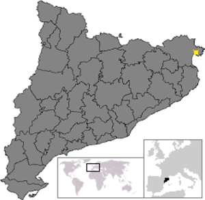 Battle of Castellón - Image: Location of Roses