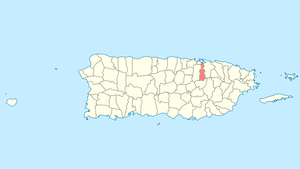 Location of Guaynabo in Puerto Rico