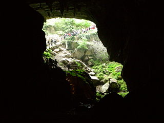 Lombrives cave in France