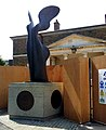 London-Woolwich, Royal Arsenal, sculpture Nike at Main Guard House 01.jpg