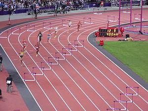 Athletics at the 2012 Summer Olympics – Women's 400 metres hurdles - Image: London 2012 Women 400m hurdles