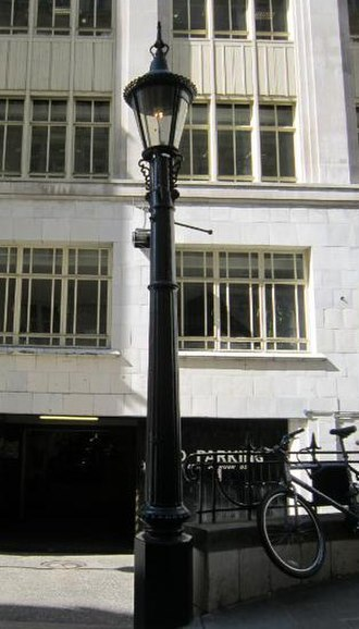 Sewer gas destructor lamp - The only remaining lamp in London