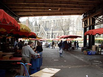 Borough Market - Borough Market, looking onto Southwark Cathedral