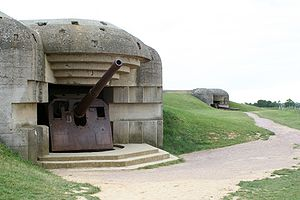231st Brigade (United Kingdom) - Two of the bunkers of Longues-sur-Mer.