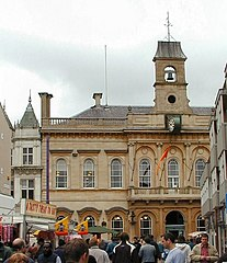Loughborough Town hall and Market place