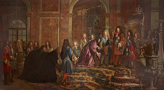Hall of Mirrors - Image: Louis 14 Versailles 1685