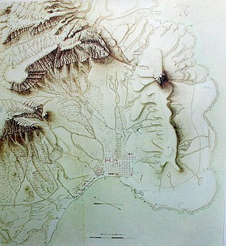 Louis Michel Thibault - Cape Town and environs 1791, Map by Thibault, Delft Archives