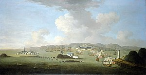 Colonial American military history - The Capture of Louisburg, 1745 by Peter Monamy