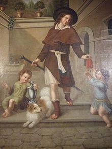 Louise Seidler: Altargemälde der St.-Rochus-Kapelle in Bingen, um 1816 (gestiftet von Johann Wolfgang von Goethe) (Quelle: Wikimedia)