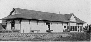 Minden, Louisiana - Louisiana and Arkansas Railway depot in Minden, c. 1904
