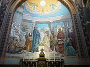 180px Lourdes %C3%A9glise Rosaire mosa%C3%AFques J%C3%A9sus pr%C3%A9sent%C3%A9 au temple 3
