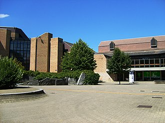 Université catholique de Louvain - The Montesquieu square in Louvain-la-Neuve, where the Faculty of Law and Criminology is located.