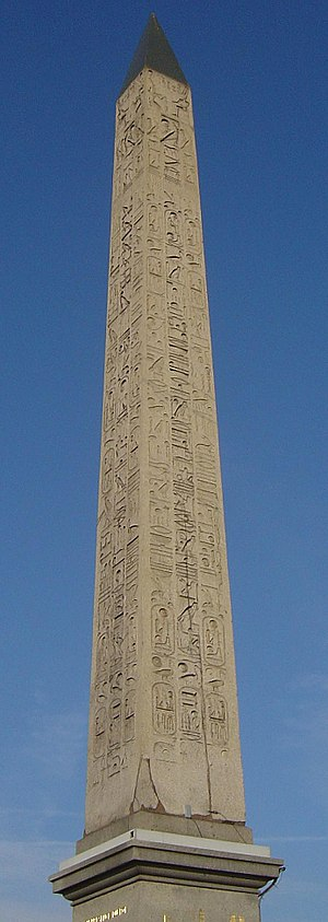 History of timekeeping devices - The Luxor Obelisk in Place de la Concorde, Paris, France