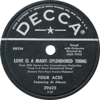 Love Is a Many-Splendored Thing (song) 1955 single by The Four Aces