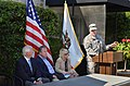 Lt. Col. Chris Tande addresses attendees during ceremony in Napa (9420430114).jpg