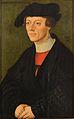 Lucas Cranach d.Ä. - Bildnis eines 19jährigen jungen Mannes in schwarzer Kleidung.jpg