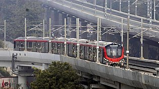 Lucknow Metro under operation.jpg