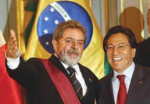 Economy of Peru - Toledo and Brazil's President Lula da Silva.
