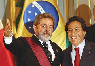Alejandro Toledo - Toledo and Brazil's President Lula da Silva.