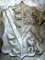 LuttrellImpalingWyndham 1522 EastQuantoxheadChurch Somerset.PNG