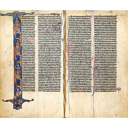 two leaves from the Lyghfield Bible Lyghfield Bible - 2018 auction catalogue - 10.jpg