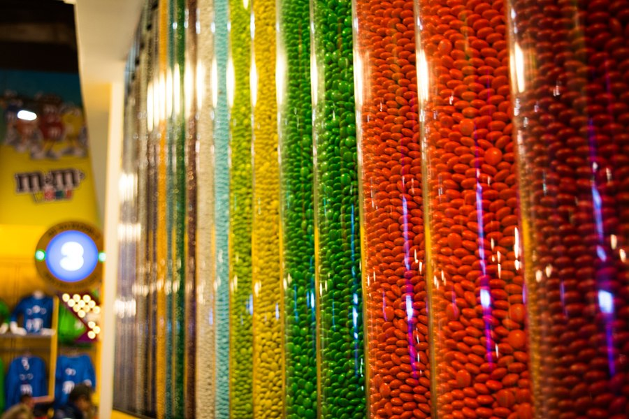 M&M candy at New York shop