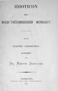 Idioticon der nord-thüringischen Mundart (Cover)